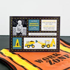 Construction Birthday Party Printable Invitation