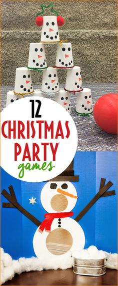 Christmas Class Party Games. Fun games for a winter birthday, class Christmas party or family holiday bash. Festive Christmas games for all ages. Creative games you can make at home for cheap. Dollar Store Games.
