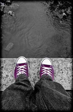 Converse. Purple.