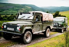 Land Rovers in Mid-Wales - Defender Hi-Capacity Pickup & Series IIa