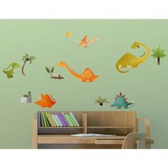 Let your little archeologist explore the fascinating world of the triceratops or stegosaur with the Home Decor Line Dinosaurs Wall Decals . Kids Wall Decor, Boy Decor, Boys Room Decor, Boy Room, Dinosaur Wall Decals, Name Wall Decals, Interactive Walls, Dream Wall, Cool Rooms