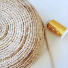 Rope basket, gold sample - Gemma Patford