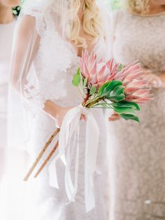 Pink protea wedding