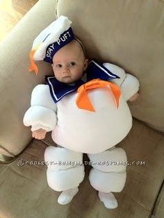 Original Baby Halloween Costume Idea: Stay Puft Marshmallow Baby... This website is the Pinterest of costumes