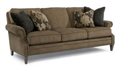 Flexsteel Furniture: Fabric Sofas: SuttonFabric Sofa w/ Nails (7591-31)