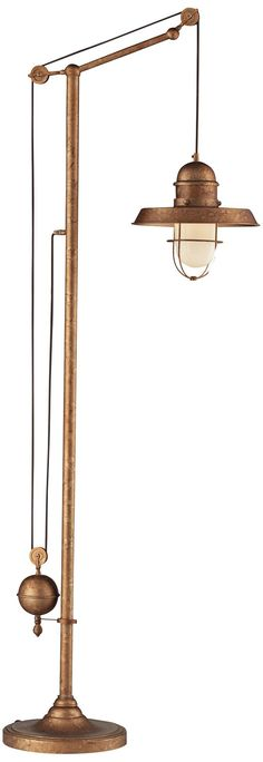 Apartment: Copper Floor Lamp (Lounge Area) - Dimond Farmhouse Bellwether Copper Floor Lamp -