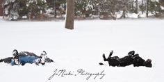 Snow Angels ~ This would be a cute Christmas card idea!