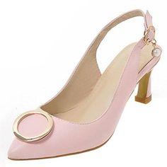 adf6594577e Zanpa Women Fashion Slingback Pumps Buckle Shoes (41EU