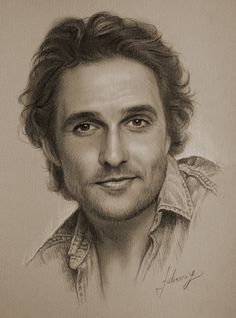 Matthew McConaughey, Pencil-drawing by krzysztof20d