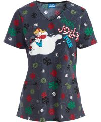 e6e09f16cd3 Get Holiday-Ready with this Cherokee Women's Jolly Frosty Fun Scrub Top! All  of your Christmas Scrubs can be found at Medical Scrubs Mall!