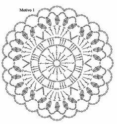 Bildergebnis für mandalas tejidos al crochet patrones Motif Mandala Crochet, Crochet Motifs, Crochet Diagram, Crochet Chart, Crochet Squares, Thread Crochet, Crochet Doilies, Crochet Flowers, Crochet Stitches