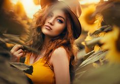 Wallpaper sunflowers, Girl, hat, red images for desktop, section деÐ . Portrait Photography Poses, Autumn Photography, Girl Photography Poses, Creative Photography, Sunflower Field Pictures, Pictures With Sunflowers, Sunflower Field Photography, Poses Modelo, Sunflower Fields