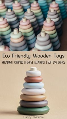 Eco-Friendly Wooden Toys for Toddlers by HappyTreeStore. Montessori Rainbow   Pyramid   Forest   Alphabet   Sorting Games. Waldorf and Educational wooden toys is the best gift for toddlers. Our toys are made of environmentally friendly materials for kids of any age #kidstoy #education