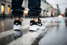 Nike Air Max 1 Black And White On Feet