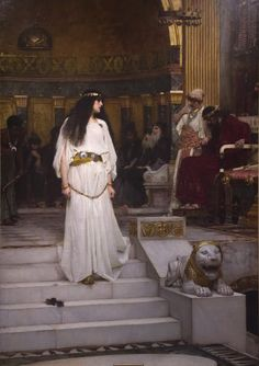 Mariamne Leaving the Judgement Seat of Herod - by JW Waterhouse. I was lucky enough to see this painting in the flesh. It is HUGE and it looks really detailed, but its so loose! Epic.