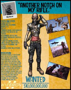 Borderlands 2 Wanted Posters - Mordecai by NerdscapeDesigns on Etsy https://www.etsy.com/listing/277814914/borderlands-2-wanted-posters-mordecai