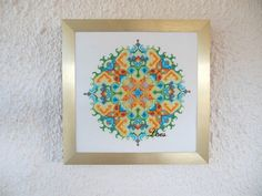 Spring – Cross-stitch Mandala pattern  This cross-stitch Mandala pattern is personally and lovingly created by me. I find the geometry of