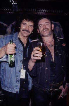Tony Iommi and Lemmy Kilmister..........................