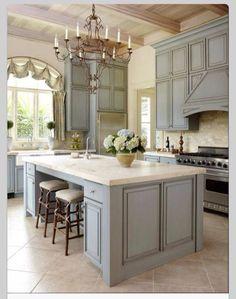 Robins egg blue kitchen