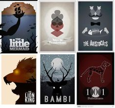 new style of Disney's movie poster. it cool and simply