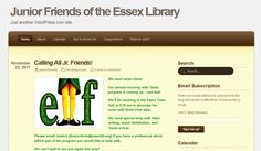 Visit our blog for our Junior Friends via the Essex Library homepage for updates!