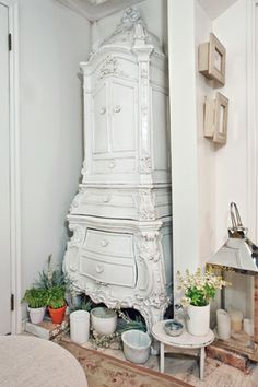 Ever see a great piece but think it is too busy or even gaudy for your decor? White paint to the rescue!