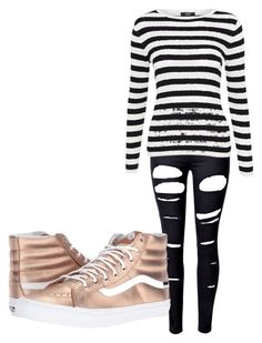 """sla"" by myllenac-s on Polyvore featuring WithChic and Vans"