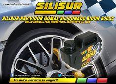 QUE TUS NEUMÁTICOS Y GOMAS BRILLEN COMO NUNCA! SILISUR REVIVIDOR GOMAS SILICONADO 500CC http://www.probushop.com.ar/silisur-revividor-gomas-siliconado-liquido-bidon-500cc-autos-19105029xJM