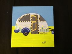 Original acrylic on canvas Little Campers set of by barnyardstudio, $18.00 for single pic