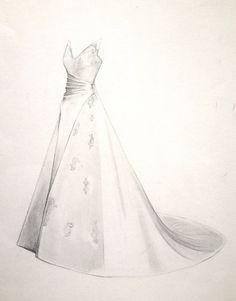 Fine Art Wedding Dress Drawing. Gifts for your Wife She'll Love! Unique Wedding Portraits for Gifts, Memories and Anniversaries on Etsy, £170.00