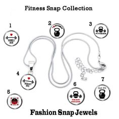 18mm Snap Charm, Fitness Snap Collection, Fits our 18mm Fashion Snap Jewelry, fits ginger snaps, noosa snaps, chunk snaps jewelry