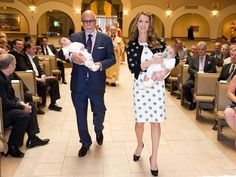 Celine Dion with husband Rene and their twins.