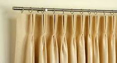 french pleat curtain - Google Search