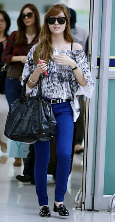 Jessica Jessica Jung Fashion, How To Wear, Pants, Life, Dresses, Style, Slip On, Hipster Stuff, Trouser Pants