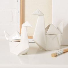 Set of 2 Swan Boxes design by Tozai Home | BURKE DECOR