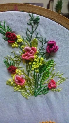 3D embroidery-Bullion and french knots