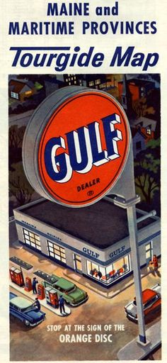 Gulf Oil Map....used to be complimentary in the good ole days