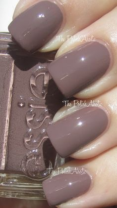 The PolishAholic: Essie Don't Sweater It. Fantastic fall neutral grey brown