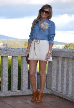i love this denim blouse