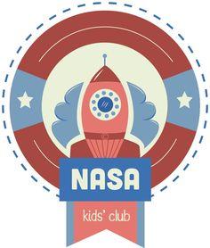 Logo Redesign // Nasa Kids' Club by Molli Ross, via Behance