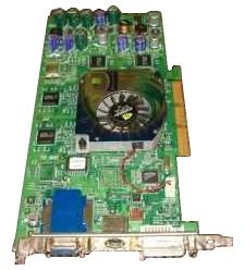 Nvidia Quadro-4 900XGL 128MB Dual DVI AGP Video Graphics Card Mfr P/N NV-1035-C3