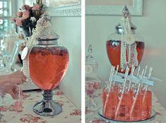 Drink Station - Pretty Little Vintage Bridal Shower