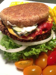 This is a recipe for six thick, hearty and flavorful burgers.  The chia seeds make them firm and hold them together.  These trump any store bought veggie burger by eliminating oils, eggs and chemical food additives.