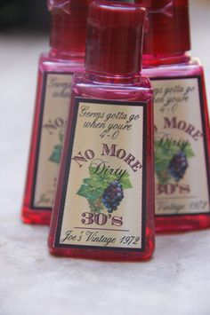 40th Birthday Party Favor 5 hand sanitizers by DaiseyDoos on Etsy, $12.50