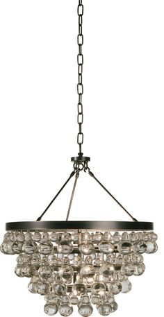 A funky, modern take on a crystal chandelier. The Bling Chandelier from Robert Abbey is fabulous modern chandelier available in sleek Polished Nickel or classic Deep Patina Bronze. Bling Bling, Bronze Chandelier, Chandelier Lighting, Crystal Chandeliers, Glass Chandelier, Entryway Chandelier, Table Lighting, Office Lighting, Robert Abbey Lighting