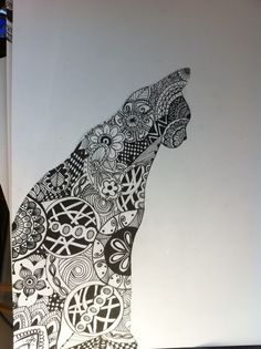 Sharpie art with basic outline
