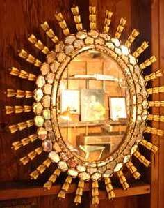 Vintage Starburst Mirror.  Love! $100