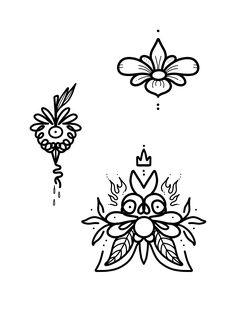 Flower 🌸 strawberry demon 🍓 & flowery king of demons 🌿🔥❤️ (freehand) Tattoo Images, Tattoo Photos, All Tattoos, Angel Tattoo Men, Lower Back Tattoos, Big Tattoo, Arm Band Tattoo, Picture Tattoos, Sugar Skull