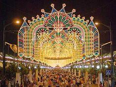August Feria in Malaga, Spain