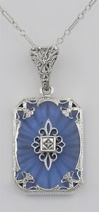 Blue-Camphor-Glass-Filigree-Diamond-Pendant-With-18-Chain-Sterling-Silver